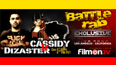 Cassidy Vs Dizaster Only Here Dec 6th 2014