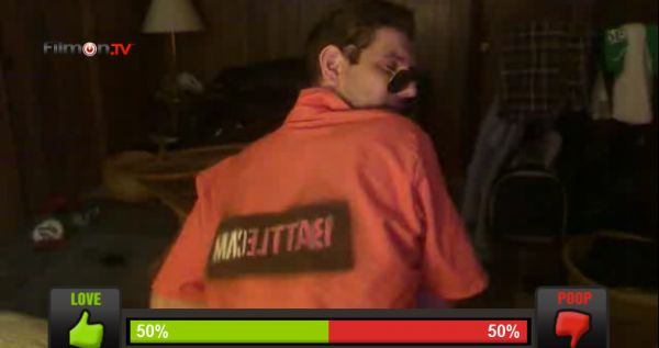 Battlecam Moments: Jimmy Derzko trying to show off his Battlecam House Jumpsuit on Battlecam