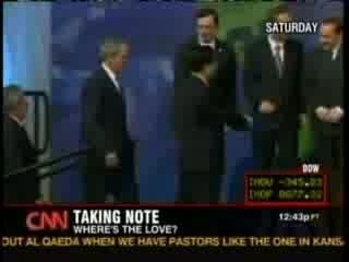 Nobody will shake Bush\'s hand