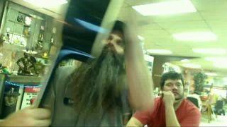 BATTLECAM_JEBUS Hits Friend with a Guitar on Battlecam.com