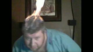 Chris_Bama Lights Head on Fire on Battlecam.com