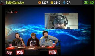 Big_Chaos Sprays Bear Spray On His Face Live on Battlecam.com