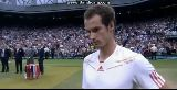 Andy Murray crying in Wimbledon 2012 Final 8 7 2012 during interview after loss to Federer