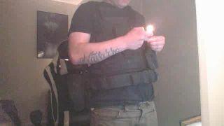 Raznet lights fireworks in his vest on Battlecam.com