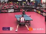 Caught off guard by an awesome Ping Pong shot