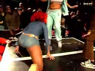 Girls Drop Off Stage in Booty Shake Gone Wrong