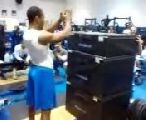 Justin Bethel- 60 inch vertical box jump..FLAT FOOTED!!