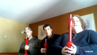 Joe, BTF and Ruen - Contest on Who Can Drink a Frozen Margarita the Fastest