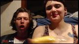 Battlecam RV - Random Couple Challenged to Eat a Twinkie and Spit it in Others Mouth