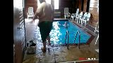 BTF Does a Cannon Ball in the Pool in KS