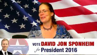 Sarah Hart on David Jon Sponheim For President