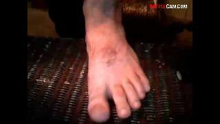 Ayyone Challenged to Hammer a Nail Through His Foot