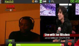 Joe Breaks Studio Mic On Battlecam.com