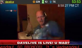 Cavacho Eats A Dead Pigeon Live on The DaveLive Show On Battlecam.com