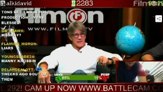 Alki David gets Eric Roberts to do a prank on Battlecam.com