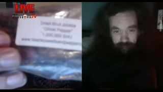 Chilihead - Eats 4 Dried Ghost Peppers on Battlecam.com