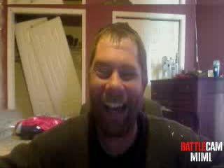 MothMan Challenged to Shoot his ball sack on.. Battlecam.com