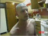 MoonBoots Challenged to Shave Head & Paint Himself Blue.. Part 2.. on Battlecam.com
