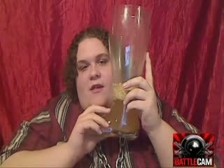 BTF Challenged To Drink His Own Puke.. on Battlecam.com