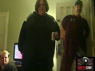 BTF Crushes a Can W/ His Butt.. on Battlecam.com