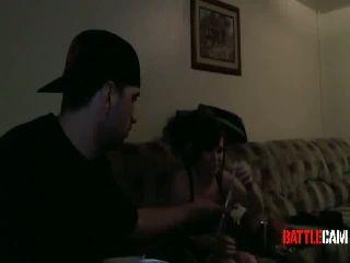 Juggalokid123's Friend Sets His Shirt on Fire.. on Battlecam.com