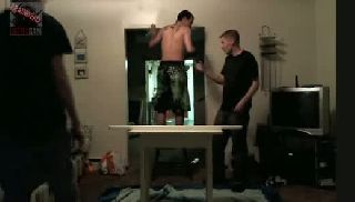 BattleCam.com - Juggalokid doing backflip on table with light tubes