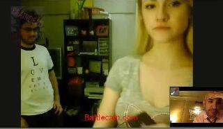 Russiangal rape prank on Battlecam.com