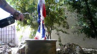 JACK0THEBARBARIAN - Burns a British Flag on Battlecam.com
