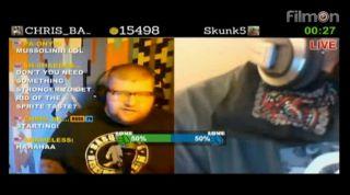 Skunk5 giving meds to Mr. Random