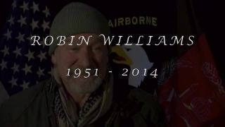 Video compilation of Robin Williams visiting with and performing for U.S. troops overseas