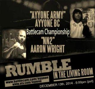 AYYONE VS NN2 LIVE 12/13/14 on Battlecam.com/ayyone_bc