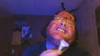 Chris Bama - Cuts His Face with a Razor on Battlecam.com