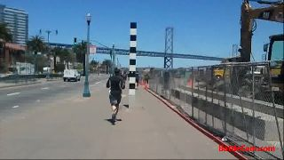 Dude Skateboarding Naked Down San Francisco.. on Battlecam.com