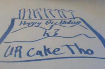B-Day Cake from Mnemonic