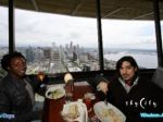 Lunch up top the Space Needle while it rotates!! May, 2015, Seattle, Wa. visit!